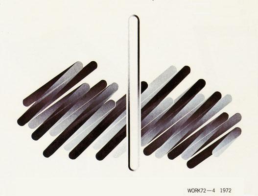 WORK 72-4 1972  Lithograph 61x88cm ED.20