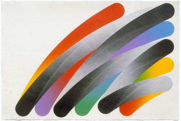 STROKES 78-3 1978  Lithograph,生漉楮 68.5x102.5cm ED.30