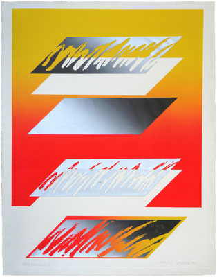 RELATIVITY-3 1971   Lithograph,Metal block 76x56cm ED.10