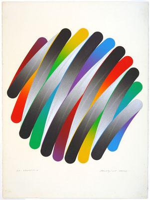 STROKES 79-4 1979  Lithograph 67x56cm ED.45