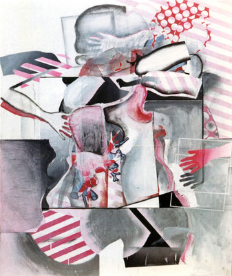 人体 Nude-7 1966 Oil on board,Collage,Paper 194x162cm