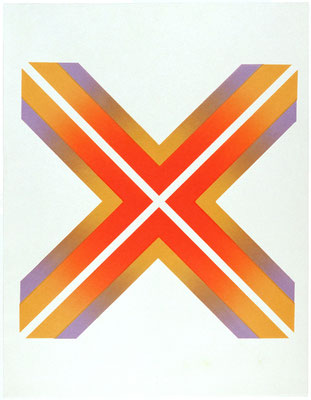 CROSS WORK 68-2 1968   Lithograph 56x56cm ED.20