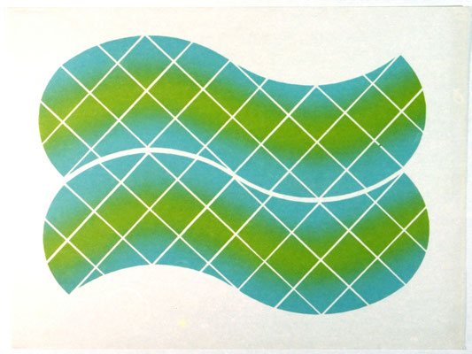 CROSS WORK 68-3 1968   Lithograph 76x56cm TP