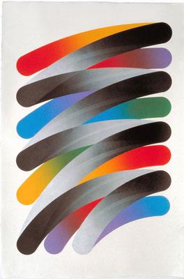 STROKES 79-20 1979  Lithograph,生漉楮 102.5x68.5cm ED.30