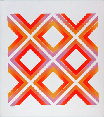 CROSS WORK 68-1 1968   Lithograph 56x56cm ED.20