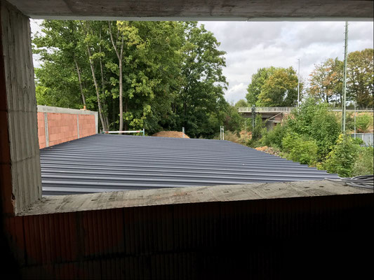 14.08.2018 - Blick auf das Dach der Sortierung.