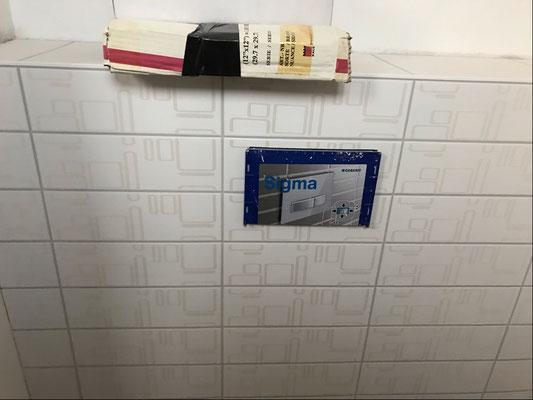 19.01.2019 - Die Kundentoilette ist auch fast fertig.