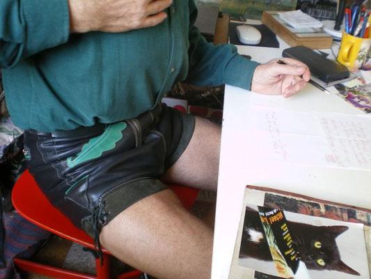 Schwarzes Glattleder · Bund 74 · Auf 80 cm erweitert · 20110122-03