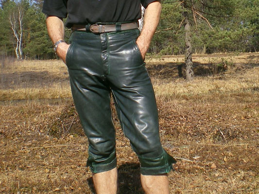 dark green · knee-length · waist 28 ½ · enlarged to 31 · 20100326-23