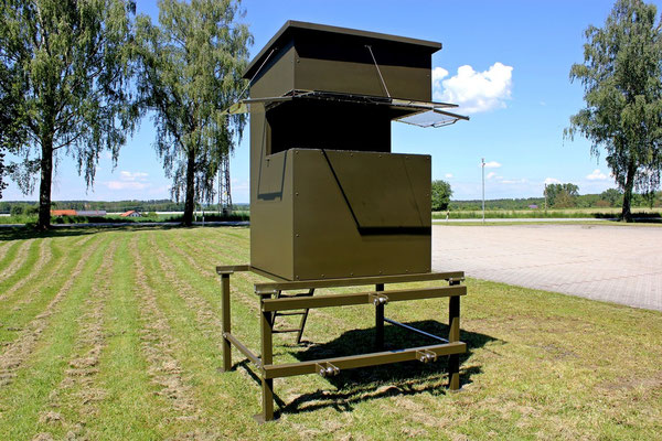 Sedlmaier Revierbedarf, Mobile Sitzkanzel für Dreipunktaufnahme, Jäger, Jagd, Wild, Wald