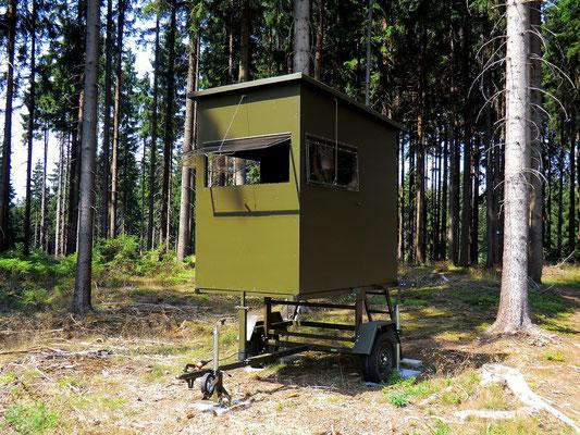 Sedlmaier Revierbedarf, Mobile Schlafkanzel, 50 cm erhöht, Jäger, Jagd, Wild, Wald