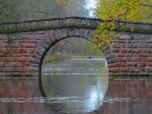 Herbststimmung an der Bücke am alten Kanal in Nürnberg