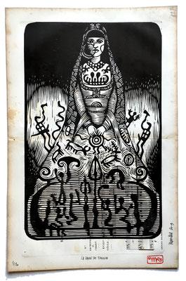 mattroussel_gravure_sur_bois_la dame de Tanum 60x50 250€
