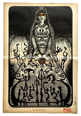 mattroussel_gravure_sur_bois_la dame de Tanum 60x50 270€