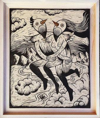mattroussel_Bois-gravé-feuille-d'orduo 1500€ 40x50cm