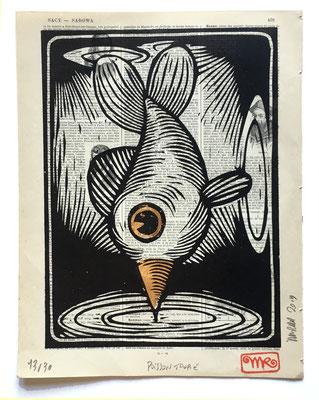 mattroussel_gravure_sur_bois_Poisson toupie 25x30 180€