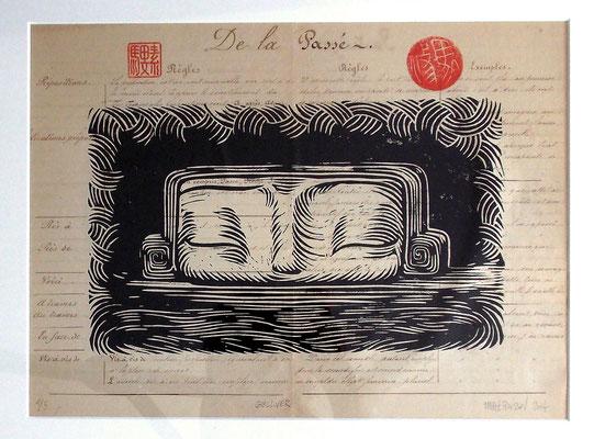 Linogravure : Gulliver 35x20  -Papier encyclopedie 1901 - 90€