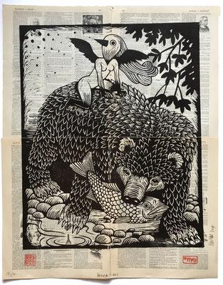 mattroussel_gravure_sur_bois_Hokkai-dos 50x70 280€