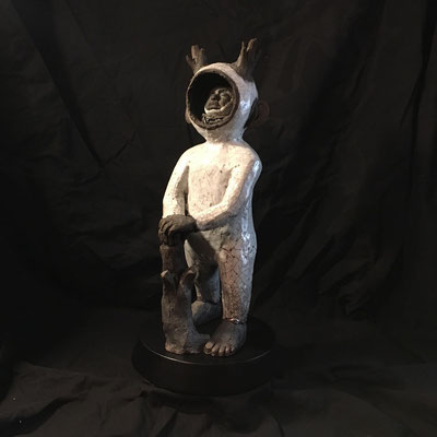 matt_roussel_Raku_Wood boy. 55cm