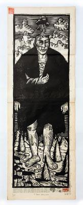 """""""Patagonien"""" gravure sur bois/woodcut 80x 30 250€"""