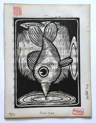 mattroussel_gravure_sur_bois_Poisson toupie 25x30 160€