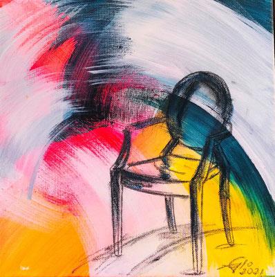 Arcobaleno 2 (acrilico 30x30-2021) La vita è come un arcobaleno: ci vuole la pioggia e il sole per vederne i colori. (Detto indiano)