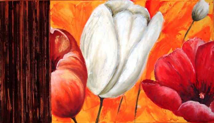 Tulipani (olio su tela) 70 x 50 - 2009