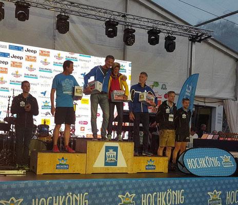 Monika Wallner bei der Siegerehrung