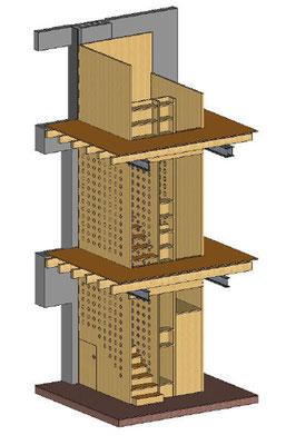 Treppenhaus neo_leo, Werkplanung von Stephan Tewes