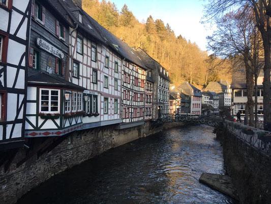 Die Altstadt von Monschau als Etappenziel