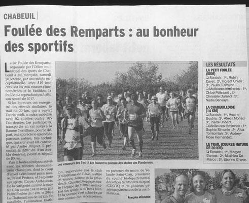28 eme Foulée des remparts du 20/10/2018