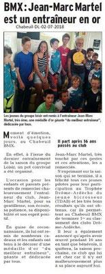 Dauphiné libéré du 02-07-2018- BMX à Chabeuil