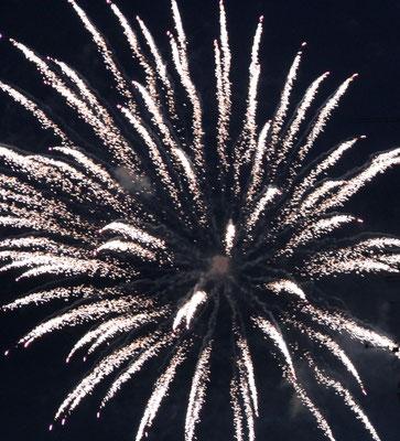 Feuerwerk vom Sofa aus