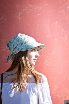 Schirmtuch, Kopfbedeckung für den Sommer von Silvia Bundschuh Hutdesign, Hamburg