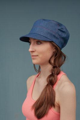 Jeanscap Jade, Silvia Bundschuh Hutdesign, Sommer