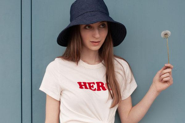 Jeanshut mit breiter Krempe, Silvia Bundschuh Hutdesign, Sommer