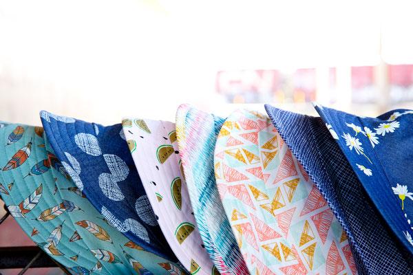 Schirmtücher für den Sommer von Silvia Bundschuh Hutdesign, Hamburg