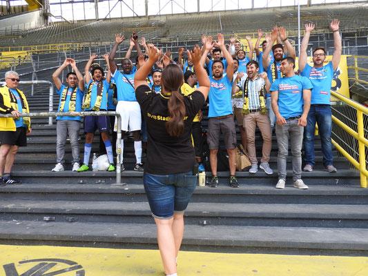 """Ein Ball - eine Welt  Dortmund, 05.06.2016, Interkulturelles Stadionfest """"Ein Ball - eine Welt!"""" im Signal Iduna Park.  """"Nachweis Handwerkskammer, Fotografin: Jana C. Mielke"""""""