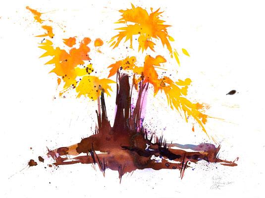 Herbsttage 008 | Aquarell auf Papier | 45,5 x 61 cm