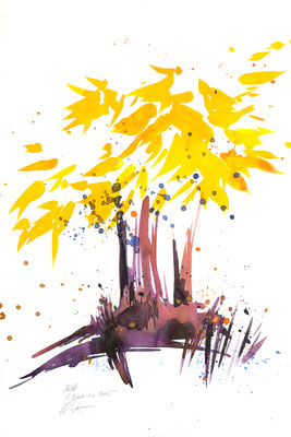 Herbsttage 014 | Aquarell auf Papier | 45,5 x 30,5 cm