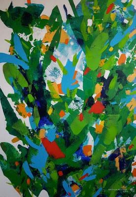 Grow again / Acryl auf Leinwand / 100 x 70 cm