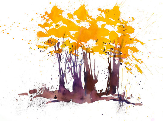 Herbsttage 003 | Aquarell auf Papier | 45,5 x 61 cm