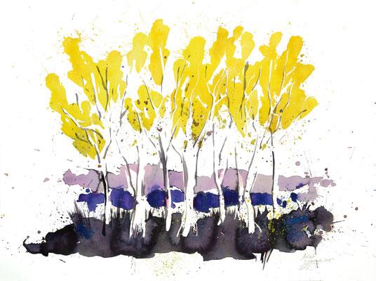 Herbsttage 004 | Aquarell auf Papier | 45,5 x 61 cm