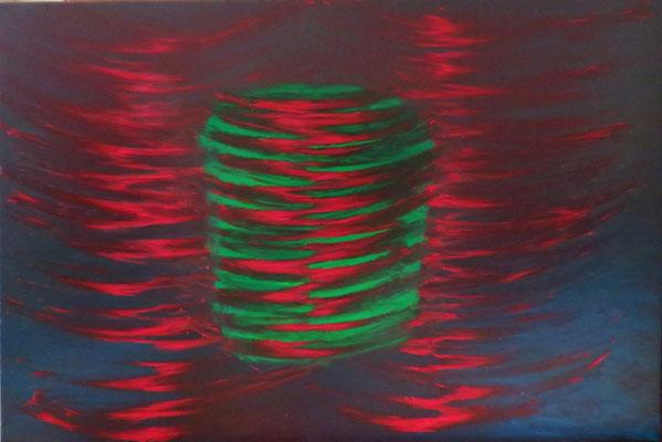 Rotation / Öl auf Leinwand /100 x 150 cm