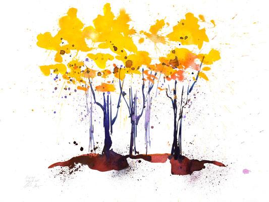 Herbsttage 010 | Aquarell auf Papier | 45,5 x 61 cm