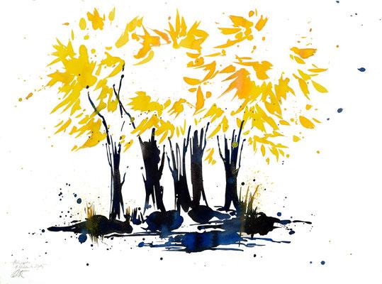 Herbsttage 001 | Aquarell auf Papier | 45,5 x 61 cm