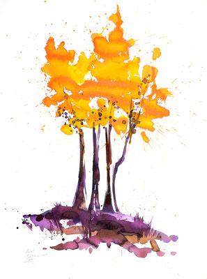 Herbsttage 006 | Aquarell auf Papier | 61 x 45,5 cm