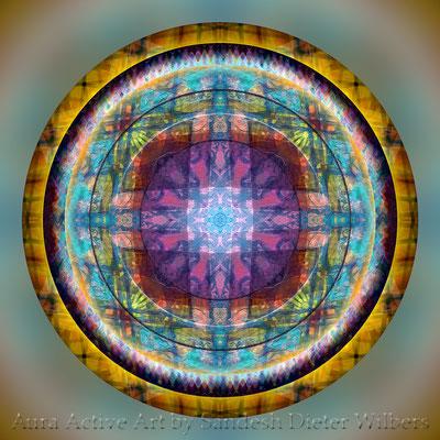 Mandala - Japabima Cross Culture - 3xy4x -F37 +S23 n 60x60 cm