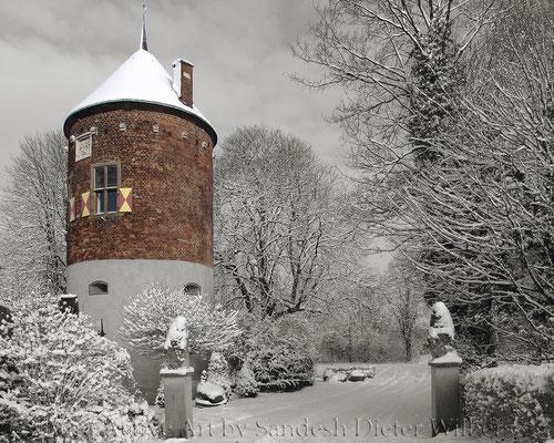 Burgturm Davensberg - swHDx  80x 65 cm