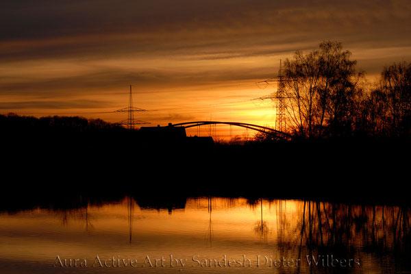Abendhimmel über dem Dortmund-Ems-Kanal  60x40 cm